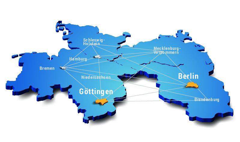 Bild HLRN Landkarte
